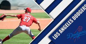Trevor Bauer With Dodgers Background