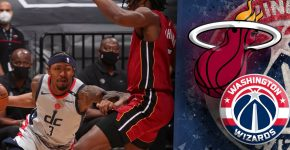 Wizards Vs Heat With Wizards Background