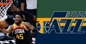 Utah Jazz Background With Donovan Mitchell