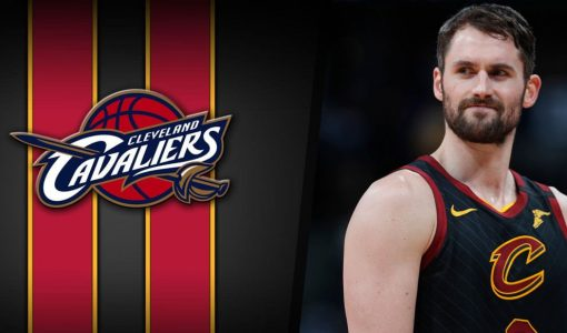 Kevin Love With Cleveland Cavaliers Background