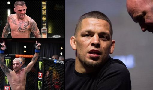 Nate Diaz With Dustin Poirier And Charles Oliveira