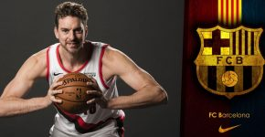 Paul Gasol With Barcelona Background