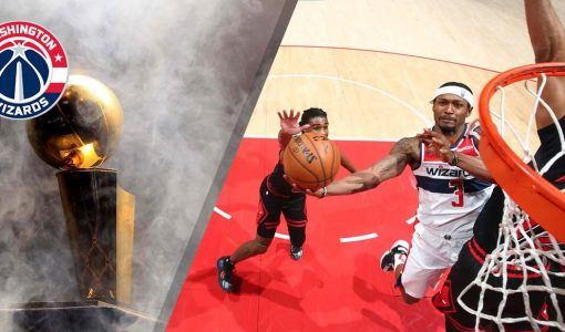 Washington Wizards With NBA Championship Background