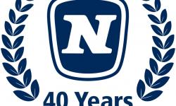 Logo 40 tahun Novomatic