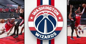 Washington Wizards Vs Portland Trail Blazers With Wizards Backdrop