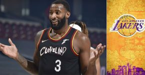 Andre Drummond With Lakers Background