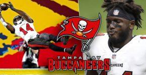 Chris Godwin Touchdown With Tampa Bay Logo