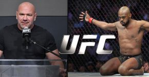 Dana White And Jon Jones With UFC Logo