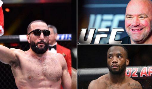Belal Muhammad And Dana White And Leon Edwards UFC
