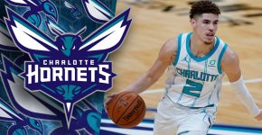 LaMelo Ball And Charlotte Hornets Background With Logo