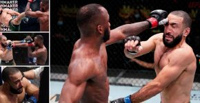 Leon Edwards Eye Pokes Belal Muhammad UFC