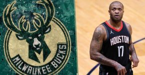 PJ Tucker With Milwaukee Bucks Background