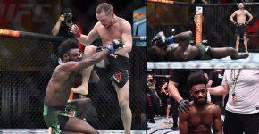 Petr Yan Illegal Knee Aljamain Sterling UFC