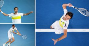Daniil Medvedev Playing Tennis