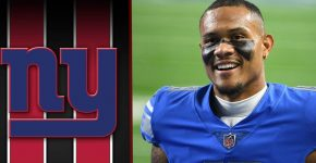 Kenny Golladay With NY Giants Background