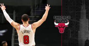 Zach Lavine With Bulls Background