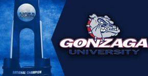 Gonzaga University With NCAA Basketball Trophy