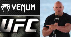 Venum And UFC Logos With Dana White