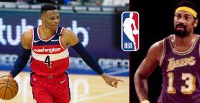 Russel Westbrook NBA Logo With Wilt Chamberlain