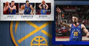 Denver Nuggets Background With Austin Rivers