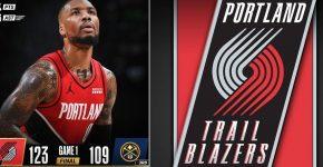 Damian Lillard Blazers Background Playoffs