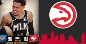 Trae Young Atlanta Hawks Vs Knicks Background