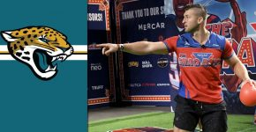 Tim Tebow With Jaguars Background