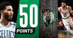 Jayson Tatum 50 Points Celtics Background