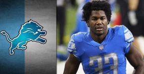 Kerryon Joshson Cut Detroit Lions Background