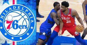 76ers Vs Mavericks With Philadelphia Background