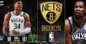 Nets Vs Bucks Series Tied