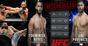Reyes Vs ProchazkA UFC Rescheduled