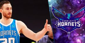Gordon Hayward Thumbs Up Hornets Backdrop