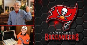 Mattress Mack With Tampa Bay Buccaneers Background