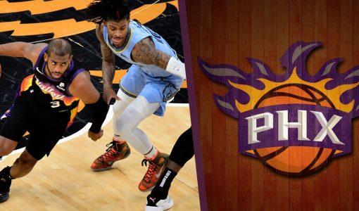 Phoenix Suns Vs Grizzlies With Suns Background
