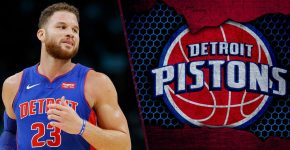 Blake Griffin With Detroit Pistons Background