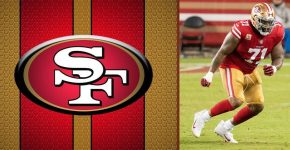 Trent Williams With San Francisco 49ers Background