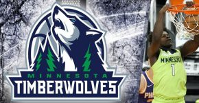 Anthony Edwards With Minnesota-timberwolves Background