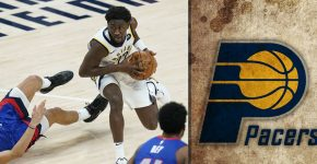 Caris Levert With Pacers Background