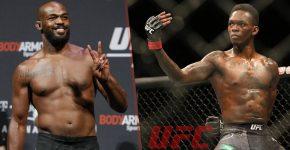 Jon Jones And Israel Adesanya With UFC Logo