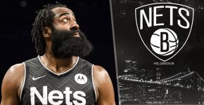 James Harden With Brooklyn Nets Background