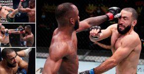 Leon Edwards Eye Pokes Belal Muhammad UFC
