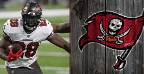 Leonard Fournette With Tampa Bay Buccaneers Background