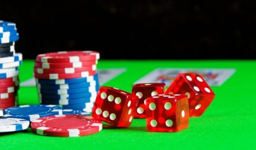 casino dice and chips