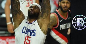 Demarcus Cousins With Clippers Background