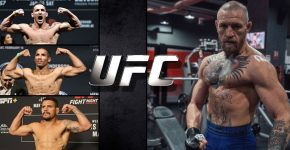 Conor McGregor With Michael Chandler And Kevin Lee And Dos Anjos