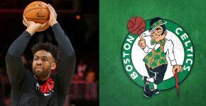 Jabari Parker With Celtics Background