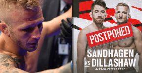 Sandhagen Vs Dillashaw Postponed
