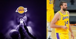 Mark Gasol With Lakers Background