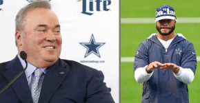Dallas Cowboys Coach McCarthy And Dak Prescott